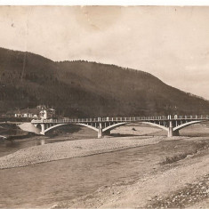 CPI (B4766) PIATRA NEAMT. POD PESTE BISTRITA, CIRCULATA, 19.8.1931, STAMPILE - Carte Postala Moldova dupa 1918, Fotografie