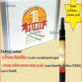 Foite tigari - 10 cutii tuburi PRIMUS CU CARBON ACTIV + 1 AROMA PENTRU TUTUN 30 ML