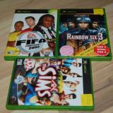 JOCURI XBOX ORIGINALE - RAINBOW SIX 3 + FIFA FOOTBALL 2003 + THE SIMS, Actiune, 12+