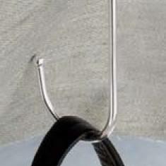 Geanta Dama - Agatatoare masa din inox argintat, pentru genti