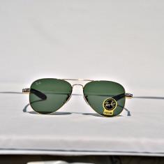Ochelari de soare Ray Ban Aviator RB8307 001 brat carbon, Unisex, Verde, Pilot, Metal, Protectie UV 100%