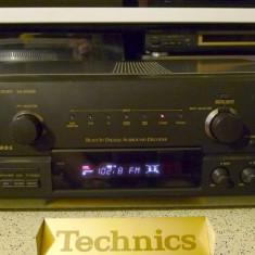 Amplificator audio - Amplituner Technics SA-DX930, intrari digitale, telecomanda, manual, poze reale