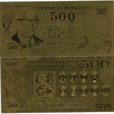 FINLANDA- 500 MARKKA- AUR 24K- FANTASY- UNC!!, An: 2015