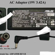 Incarcator original laptop Delta ADP-65DB si PA-1650-02 19V 3.42A 65W 5mm/2.5mm - Incarcator Laptop Asus, Incarcator standard