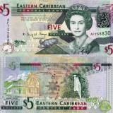 INSULELE CARAIBE 5 dollars 2008 UNC!!!, America de Nord
