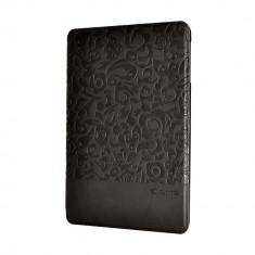 Husa Tableta - Husa iPad Mini 3 Comma Charming Black (motiv floral embosat)