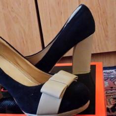 Pantofi - Pantof dama, Marime: 39.5, Culoare: Din imagine, Piele intoarsa