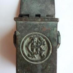ROMANIA- SCRUMIERA METALICA PENTRU VAGON CFR ANII 20-30