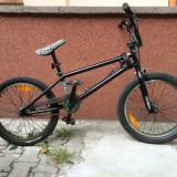 "Vand Bicicleta BMX Nespecificat ""2012 GT Performer 20"""", second hand, 800 Lei, 22 inch, Numar viteze: 1, Negru-Verde, BMX freestyle"