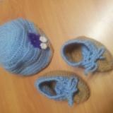 Compleu bebe crosetat, Culoare: Din imagine