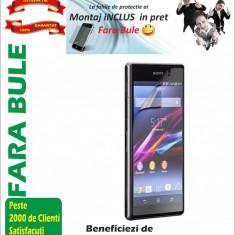 Folie protectie Sony Xperia M2 transparenta Montaj iNCLUS in Pret - Folie de protectie Sony, Lucioasa