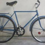 Bicicleta de oras, 20 inch, 24 inch, Otel, Albastru, Curbat(Risebar) - Bicicleta Clasica de colectie Vairas ( albastra)
