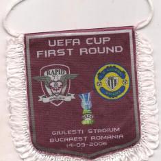 Fanion-RAPID BUCURESTI-NATCIONAL MEDEIRA cupa UEFA 2006 - Fanion fotbal