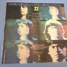 DORU CAPLESCU - 22 - ELECTRECORD REC /DISC VINIL - Muzica Rock electrecord, VINIL