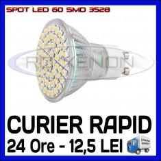 Bec/neon ZDM, Becuri economice, 20 - 50, > 10000, Interior - SPOT LED MR16, GU10, E14, E27 - 60 SMD 3528 - ECHIVALENT 30W - ALB RECE SAU CALD
