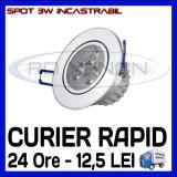 SPOT LED INCASTRABIL - 3W EPISTAR - ECHIVALENT 25W - ALB CALD