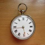 CEAS DE BUZUNAR ENGLEZESC VERGE FUSEE IMPECABIL - PERFECT FUNCTIONAL - Ceas de buzunar vechi
