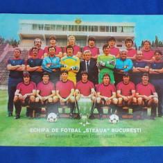 ECHIPA DE FOTBAL ''STEAUA''BUCURESTI * CAMPIOANA EUROPEI INTERCLUBURI 1986