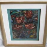 Tablou, Flori, Ulei, Realism - NATURA STATICA - PICTURA IN CUTIT