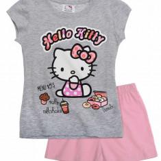 Pijama scurta 2-8 ani - Hello Kitty - art 87353 gri-roz, Marime: Alta