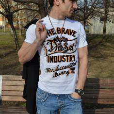 Tricou fashion DIESEL Trivi ORIGINAL bumbac masura S si M poze reale in anunt - Tricou barbati Diesel, Marime: S, Maneca scurta
