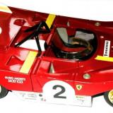 MACHETA METALICA SHELL, FERRARI 312P RACING (1972), SCARA 1/18, TRANSPORT GRATUIT !!! - Macheta auto Alta