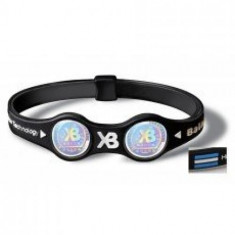 Aparat monitorizare - Bratara Double Power Balance neagra