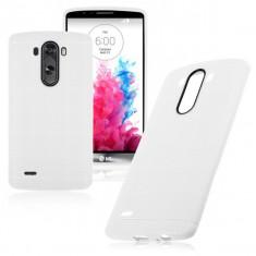 Carcasa de protectie soft TPU pentru LG Optimus G3 - husa acopera toate marginile, nu aluneca din mana - culoare: ALB - Husa Telefon LG, Gel TPU