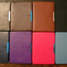Husa Kindle Paperwhite Noua + Folie   cu MANER, Magnet   Snap-in, W/S +6254carti