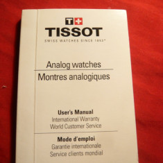 Manual de utilizare Ceasuri Analog Tissot , dimensiuni 3,6x2,4 cm ,148 pag