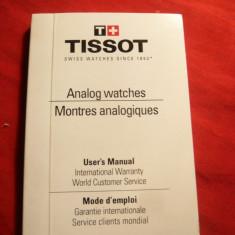 Manual de utilizare Ceasuri Analog Tissot, dimensiuni 3, 6x2, 4 cm, 148 pag - Ceas barbatesc Tissot, Mecanic-Manual