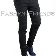Pantaloni tip ZARA MAN negri + Cureaua - pantaloni barbati - cod 3753