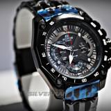 Casio EdificeCeas Barbatesc EF-550BK-1AV Negru, Sport, Quartz, Inox, Cronograf