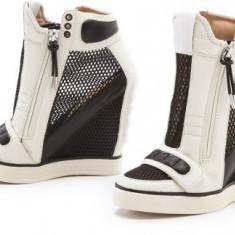 Ghete dama L A M B, Piele naturala - Sneakers cu platforma L.A.M.B din Colectia LAMB by Gwen Stefani - PIELE NATURALA