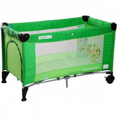 Patut pliant bebelusi - Pat pliant Simplo 120 x 60 cm Green Caretero