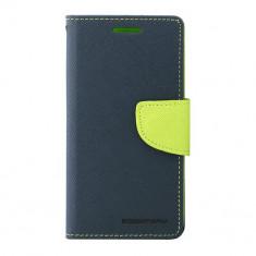 Husa Telefon Atlas, Albastru, Textil, Toc - Toc My-Fancy Samsung Galaxy Express2 Albastru/Lime