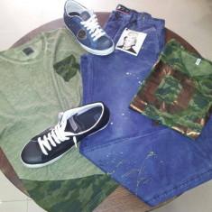 100 de tricouri barbatesti made in Italia - Tricou barbati, Marime: S, M, XL, Culoare: Alb, Bleu, Gri, Bumbac