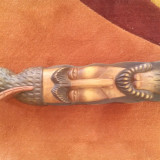 Bust de barbat - sculptura in lemn de esenta tare