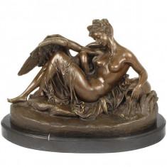 Sculptura, Abstract, Bronz, Europa - ZEITA LEDA SI LEBADA - STATUETA DIN BRONZ PE SOCLU DIN MARMURA