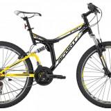 Bicicleta MTB Suspension Sprint Element Otel Negru - Galben 26 Inch SPRINT
