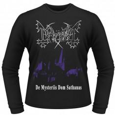 Tricou cu Maneca Lunga Mayhem - De Mysteriis Dom Sathanas - Bluza barbati, Marime: M, L