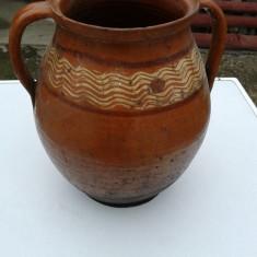 Oala de ceramica romineasca de zona bargaului, ani 50 .ptr galuste