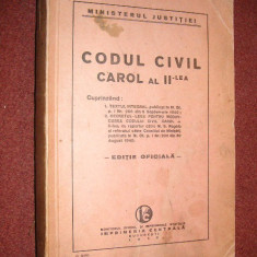 Carte juridica - Codul civil Carol al II-lea (1940)