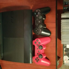 Vand ps3 super slim 500 gb + 23 de jocuri - PlayStation 3 Sony
