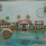 FDC, Plic + moneda, Suriname, 50 roni (taxe postale incluse)