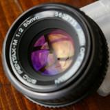 Obiectiv DSLR Pentax, Standard, Manual focus - Pentax M SMC 50mm 2.0 in stare excelenta