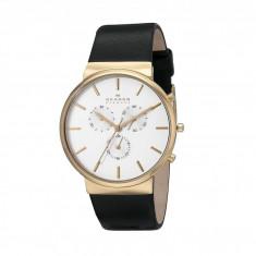 Ceas Skagen Ancher Leather Chronograph | 100% originali, import SUA, 10 zile lucratoare - Ceas barbatesc