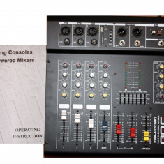 PROMO.MIXER AMPLIFICAT 400WATT, 4IESIRI, MP3 PLAYER USB, EFECTE VOCE, EGALIZATOR.NOU - Mixer audio