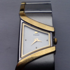 Ceas de dama PULSAR by SEIKO, fabricat din TITAN placat cu aur 18K - Ceas dama Pulsar, Lux - elegant, Quartz, Analog