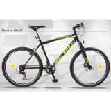 """Mountain Bike DHS Terrana 2623, roata 26"""", 17 inch, 26 inch, Numar viteze: 24, Otel, Negru-Verde"""